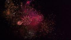Fireworks slowmotion 4 - stock footage
