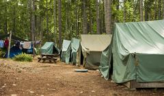 Boy scout campground Stock Photos