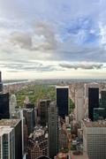 Upper Manhattan and Central Park high view, New York, USA Stock Photos