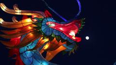 Dragon lantern to celebrate the Spring Festival in Beijing. Stock Footage
