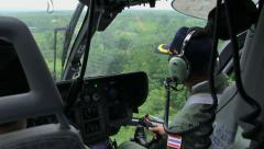 HELICOPTER PILOT COCKPIT TAKEOFF FLIGHT PERSPECTIVE Stock Footage
