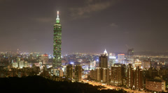 Taipei night, Taiwan - stock footage
