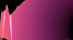 Abstract pink light curve,satin ribbon & soft silk veils,flowing digital wave. - stock footage