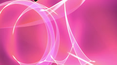 Abstract pink light annulus,satin ribbon & soft silk veils,flowing digital wave Stock Footage