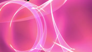 Stock Video Footage of Abstract pink light annulus,satin ribbon & soft silk veils,flowing digital wave