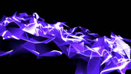Stock Video Footage of Abstract blue glass fragment curve & laser rays,flowing digital wave background