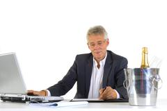 Ceo with succes at the office Stock Photos