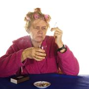 very depressed - stock photo