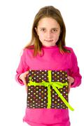 Stock Photo of girl with present