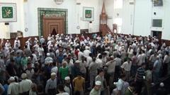 After Friday prayer in Bishkek mosque Stock Footage