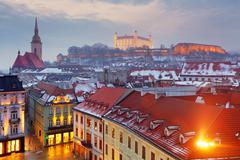 Bratislava panorama - slovakia - eastern europe city Stock Photos