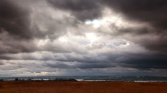 Storm clouds over the city Stock Footage