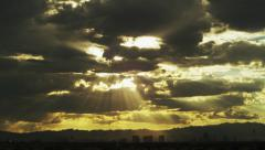 Gorgeous Clouds Time Lapse over Las Vegas Strip Stock Footage