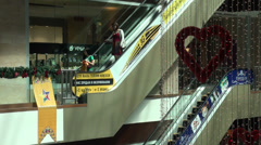 New shopping mall in Bishkek, capital city of Kyrgyzstan in Central Asia Stock Footage