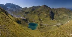 Idyllic alpine mountain Stock Photos