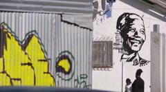 Mandela mural 2 - stock footage