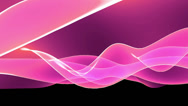 Stock Video Footage of Abstract pink light curve,satin ribbon & soft silk veils,flowing digital wave.