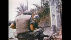 South Vietnam Soldiers In Fight 01 Stock Footage