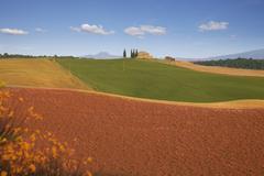 Farmhouse in suburbs of pienza, tuscany Stock Photos