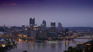 Stock Video Footage of Early Morning Over Pittsburgh 3575