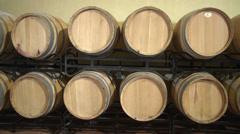 Oak WIne Barrels Stock Footage
