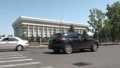 Kyrgyz presidential office, 'White House', in Bishkek Stock Footage