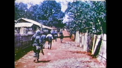 US-Soldiers In Village 01 Stock Footage