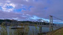Carquinez Bridge Time Lapse Stock Footage
