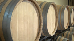Oak WIne Barrels Stock Footage