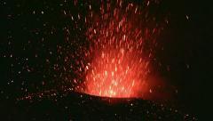 Eruption of Volcano Etna Stock Footage