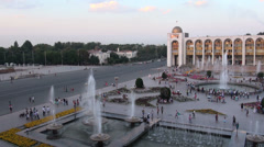 Ala Too square in Bishkek, Kyrgyzstan Stock Footage
