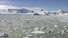 Icebreaker in Antarctica Stock Footage