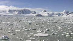 Icebreaker in Antarctica - stock footage