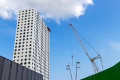Futuristic building under construction Kuvituskuvat