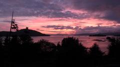 Sitka, sunset , Stock Footage
