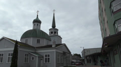 Sitka , Russian Chruch Stock Footage