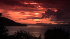 Sunset , Sitka ,Alaska Stock Footage