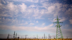 Power line, time lapse 3 Stock Footage