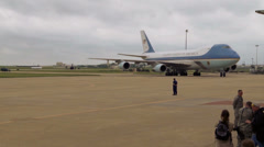 Obama 720p - Air Force One Landing 03 Stock Footage