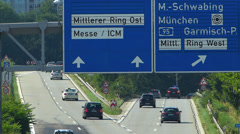 T/L Europe Germany Munich Middle Ring traffic Stock Footage