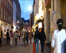 A LARGE CROWD AT LONDON CHINATOWN, LONDON, UK. WITH SOUND. (LONDON CHINATOWN10a) Stock Footage