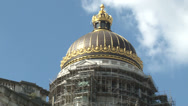 Stock Video Footage of Brussels, Dome and Law Courts renovation, Belgium
