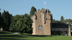 Crathes Castle, Scotland Stock Footage