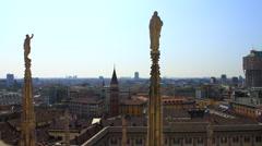 Milan from Duomo Stock Footage