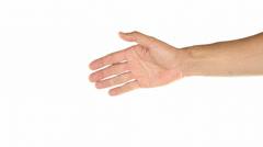 Offering handshake Stock Footage
