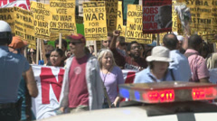Anti-war movement against Syria - stock footage