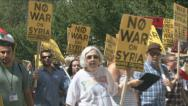 Stock Video Footage of Anti-war movement against Syria