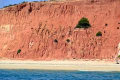 praia da rocha baixinha leste - stock photo