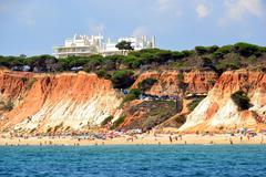 Beach rocha baixinha Stock Photos