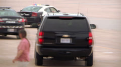 Obama - Convoy Leaving Airfield 01 Stock Footage